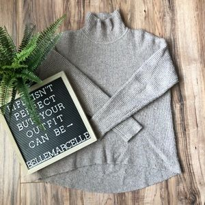 Madewell Taupe Wafflestitch Turtleneck Sweater S